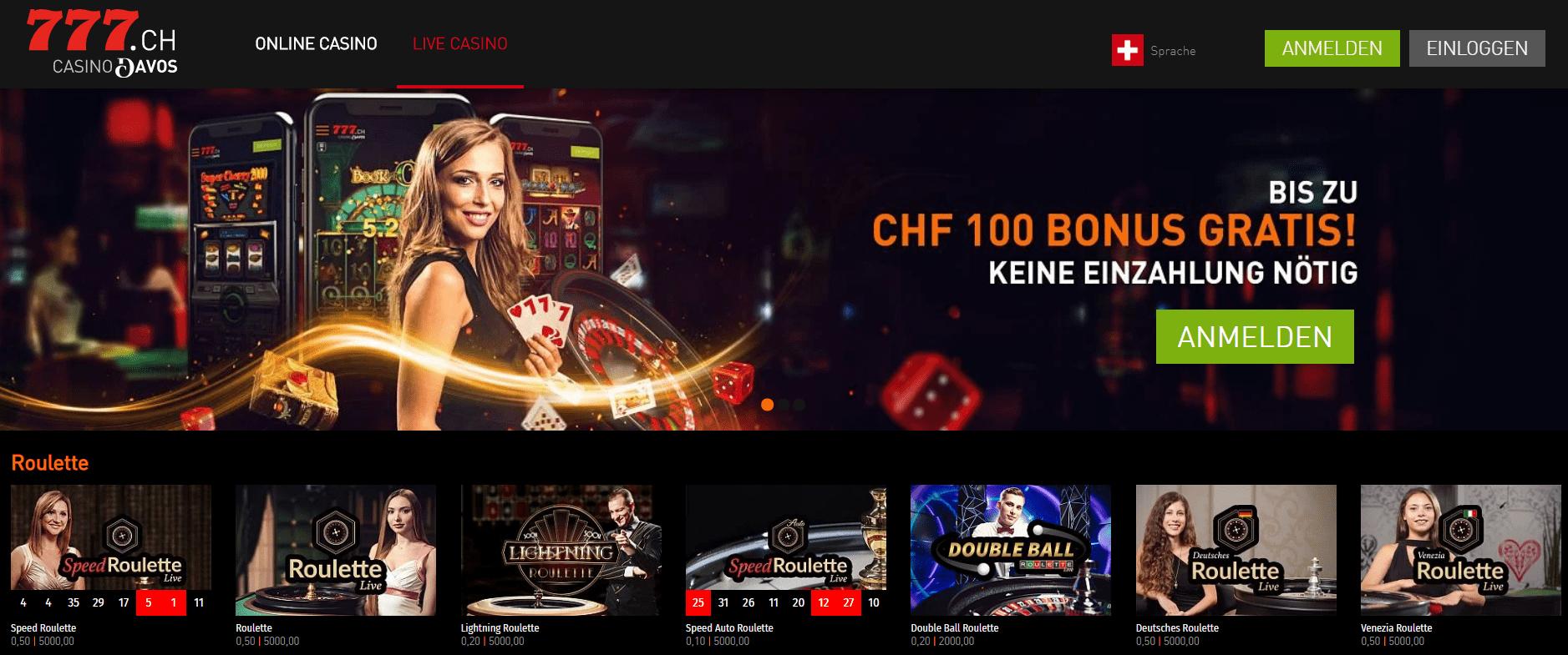 Live Casino Schweiz